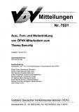 VDV-Mitteilung 7021 Aus-, Fort- und Weiterbildungen von ÖPNV - Mitarbeitern ....  [eBook]