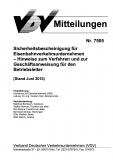 VDV-Mitteilung 7505 Sicherheitsbescheinigung für Eisenbahnverkehrsunternehmen ... [Print]