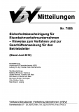 VDV-Mitteilung 7505 Sicherheitsbescheinigung für Eisenbahnverkehrsunternehmen ..  [PDF Datei]