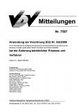 VDV-Mitteilung 7507 Anwendung der Verordnung (EG) Nr. 352/2009 bei der Änderung ... [Print]