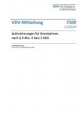 VDV-Mitteilung 7509 Aufzeichnungen für Eisenbahnen nach § 4 Abs. Satz 2 AEG [Print]