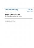 VDV-Mitteilung 7510 Muster-Prüfungsordnung für Eisenbahnunternehmen [Print]