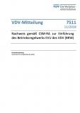 VDV-Mitteilung 7511 Nachweis gemäß CSM-RA zur Einführung des Betriebswerks ... [Print]