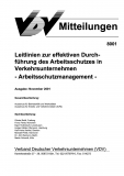 VDV-Mitteilung 8001 Leitlinien zur effektiven Durchführung des Arbeitsschutzes in .... [Print]