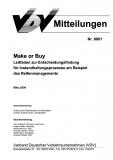 VDV-Mitteilung 8801 Make or BUY: Leitfaden zur Entscheidungsfindung für .... [eBook]