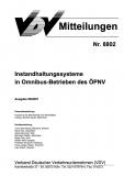 VDV-Mitteilung 8802 Instandhaltungssysteme in Omnibus - Betreiber des ÖPNV [eBook]