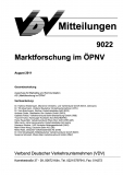 VDV-Mitteilung 9022 Marktforschung im ÖPNV [Print]
