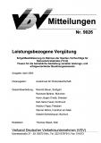 VDV-Mitteilung 9026 Leistungsbezogene Vergütung [Print]