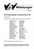VDV-Mitteilung 9027 VDV-Positionspapier Kundenrechte im ÖV [Print]