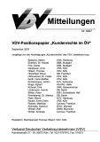 VDV-Mitteilung 9027 VDV-Positionspapier Kundenrechte im ÖV [eBook]
