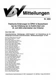 VDV-Mitteilung 9032 Praktische Erfahrungen im ÖPNV im Deutschland bei der .... [eBook]
