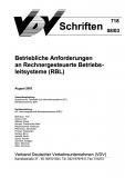 VDV-Schrift 718 Betriebliche Anforderungen an rechnergesteuerte Betriebssysteme [eBook]