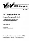 VDV-Mitteilung  9504 EG - Binnenmarkt Aktuell Nr. 4 [Print]