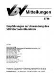 VDV-Mitteilung  9718 Empfehlung zur Anwendung des VDV - Barcode - Standards [Print]