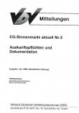 VDV-Mitteilung 9505 EG-Binnenmarkt aktuell Nr. 5 [Print]