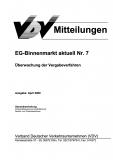 VDV-Mitteilung  9507 EG-Binnenmarkt aktuell Nr. 7 [eBook]