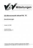VDV-Mitteilung  9510 EG-Binnenmarkt aktuell Nr. 10: Dienstleistungen [Print]