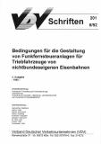 VDV-Schrift  201 Bedingungen für die Gestaltung von Funkfernsteueranlagen  f. Triebfahrzeuge [Print]