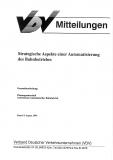 VDV-Mitteilung 10000 Strategische Aspekte einer Automatisierung des Bahnbetriebs [Print]