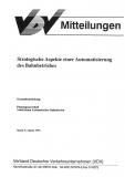 VDV-Mitteilung 10000 Strategische Aspekte einer Automatisierung des Bahnbetriebs [eBook]