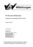VDV-Mitteilung  10001 P+R in der Diskussion - Argumente zur aktuellen Kritik an P+R [Print]