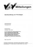 VDV-Mitteilung 10004 Bewirtschaftung von P+R - Anlagen [Print]