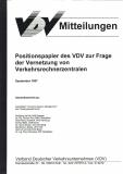 VDV-Mitteilung 10005 Positionspapier des VDV zur Frage der Vernetzung von......  [ebBook]