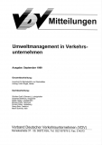 VDV-Mitteilung 8000 Umweltmanagement in Verkehrsunternehmen [Print]