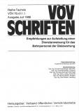 VÖV-Schrift 70.411.1 Empfehlung z. Aufstellung einer Dienstanweisung f. d. Bahnpersonal .... [Print]