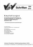 VDV-Schrift 900 Empf. f. Vereinbarungen über Kreuzungen von Entwässerungskanälen und ..[Print]