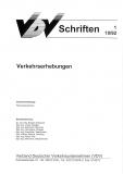 VDV-Schrift 1 Verkehrserhebungen [Print]
