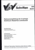 VDV-Schrift 233 Rahmenempfehlung für 3-achsige Großraum - Niederflur - Linienbusse [eBook]