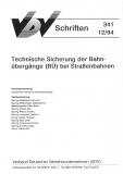 VDV-Schrift 341 Technische Sicherung der Bahnübergänge (BÜ) bei Straßenbahnen [PDF Datei]