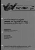 VDV-Schrift 930 Rechnerische Trennung von Fahrweg und Transport bei Nichtbundeseigenen ... [Print]