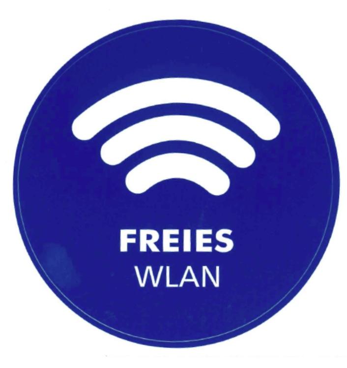 Piktogramm: Freies WLAN (Bus)